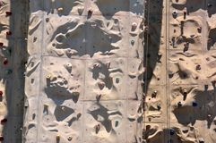 Rock Climbing Wall on sports deck, Royal Caribbean. Rock Climbing Wall Royal Caribbean International cruise line royalty free stock images