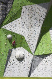 Rock Climbing Wall Stock Photography