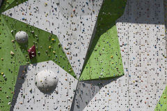 Rock Climbing Wall Stock Image