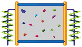Rock climbing wall on white background. Illustration Stock Images