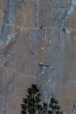 Rock climbing in Yosemite Stock Images
