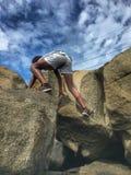 Rock Climbing stock images