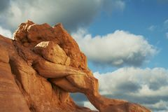 Rock and clouds Stock Photography