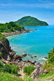 Rock coast. Sea in thailand Royalty Free Stock Photos