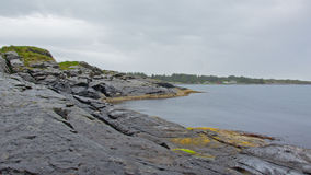 Rock coast along the north sea  in Norway Royalty Free Stock Photography