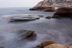 Rock coast background Royalty Free Stock Photo