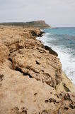 Rock coast in Cyprus Royalty Free Stock Image