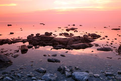Rock coast, Lake Baikal, Russia Royalty Free Stock Photo