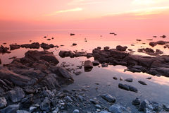 Rock coast, Lake Baikal, Russia Royalty Free Stock Images