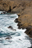 Rock coast near La Pared village on the south western part of Fuerteventura Royalty Free Stock Images