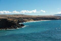 Rock coast near La Pared village on the south western part of Fuerteventura. Canary Islands, Spain Stock Photo