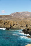 Rock coast near La Pared village on the south western part of Fuerteventura. Canary Islands, Spain Stock Images