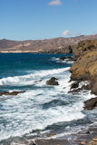 Rock coast near La Pared village on the south western part of Fuerteventura Stock Images