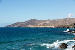Rock coast near La Pared village on the south western part of Fuerteventura Stock Photo