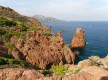 Rock coast in Provence Royalty Free Stock Photos