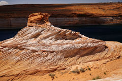 Rock at Colorado river Royalty Free Stock Images