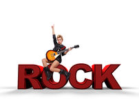 Rock concept Royalty Free Stock Photography