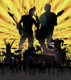 Rock Concer Poster Royalty Free Stock Photography