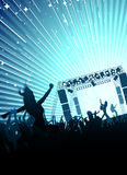 Rock concert. Entertainment concept, rock concert scene vector Royalty Free Stock Images