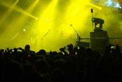 Rock Concert. The Metal band Megadeth playing in Tel Aviv, Israel. April 16th,2011 Stock Photo