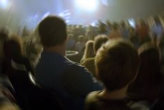 Rock concert. Blur image of father and son at a rock concert royalty free stock photos