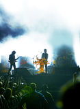 Rock concert. Scene from a live rock concert royalty free stock image