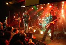 Rock concert. Polish heavy metal band TSA at the concert Royalty Free Stock Images