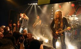 Rock concert. Polish heavy metal band TSA at the concert Stock Images