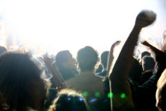 Rock Concert. People crowd on the rock concert Royalty Free Stock Image