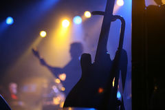 Rock concert. And lights Royalty Free Stock Photo
