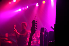 Rock concert. And lights Royalty Free Stock Image