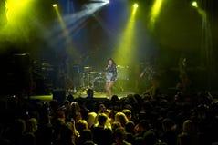 Rock concert of Anita Tsoy Stock Photos