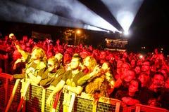 Rock concert audience Stock Image
