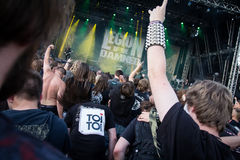 Rock concert audience Royalty Free Stock Photo