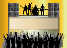 Rock Concert Background Stock Images