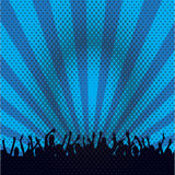 Rock concert crowd. A large crowd of cheering people Royalty Free Stock Photography