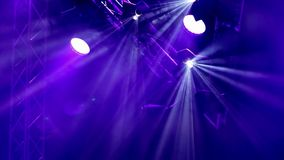 Rock concert and disco party stage lights stock video