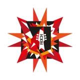Rock concert emblem Royalty Free Stock Images