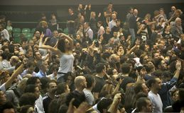 Rock concert fans in Italy Royalty Free Stock Images