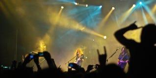Rock Concert. Fans watching Megadeth in Tel Aviv, Israel Stock Image