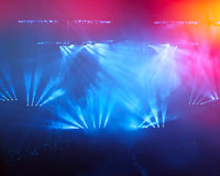 On rock concert. Light show. Active lifestyle Royalty Free Stock Images