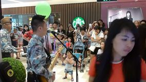 Rock concert at the mall stock video
