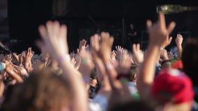 Rock Concert. People enjoying open air rock concert stock video footage