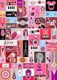 Rock Concert Pop-Art Collage Stock Image