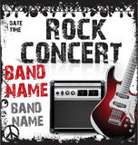 Rock concert poster Royalty Free Stock Photos