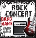 Rock concert poster Royalty Free Stock Photos