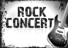 Rock concert poster Royalty Free Stock Photo