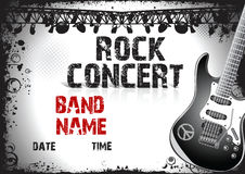 Rock concert poster. Illustration Royalty Free Stock Image