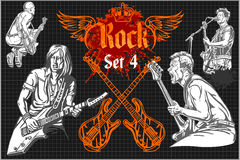 Rock concert poster - 1980s. Vector illustration Stock Image