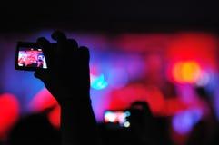 Rock concert seen trough a camera Stock Images